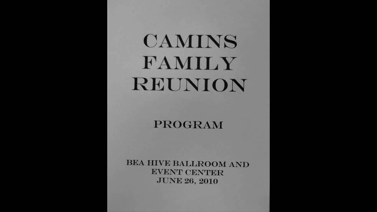 Family Reunion Banquet Program Sample Camins Family Reunion Program