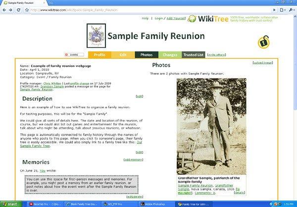 Family Reunion Banquet Program Sample Family Reunion Ideas