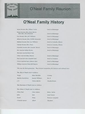 Family Reunion Banquet Program Sample Previous O Neal Family Reunion Banquet Programs O Neal