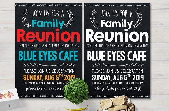 Family Reunion Flyer Templates Family Reunion Party Flyer Card Templates Creative Market