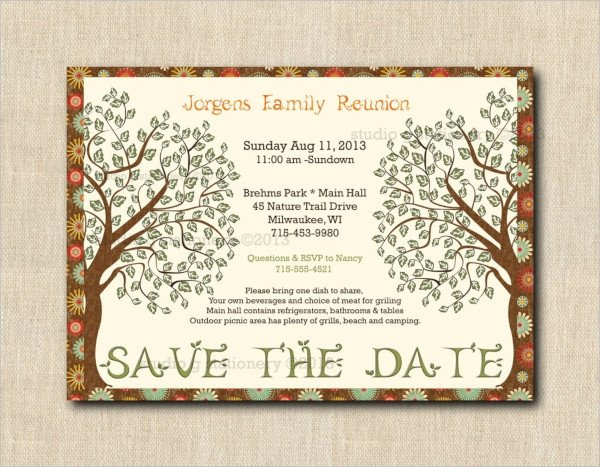 16 Sample Family Reunion Invitations PSD Vector EPS