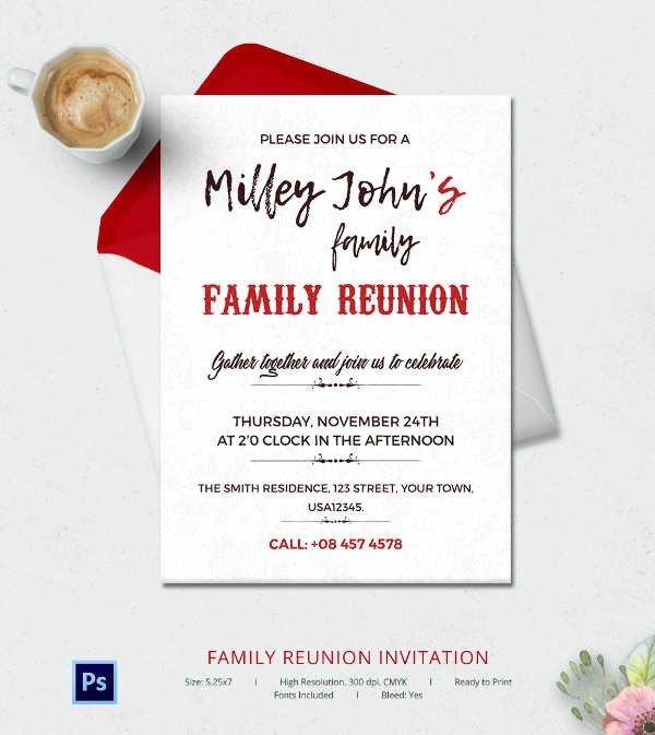 Family Reunion Invitation Templates 32 Family Reunion Invitation Templates Free Psd Vector