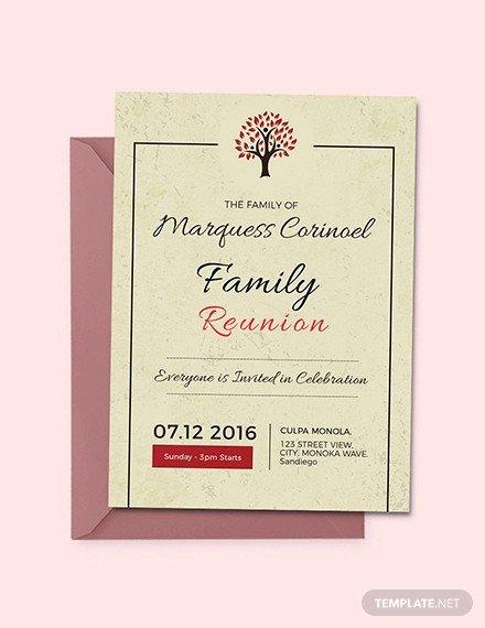 Family Reunion Invitation Templates 35 Family Reunion Invitation Templates Psd Vector Eps