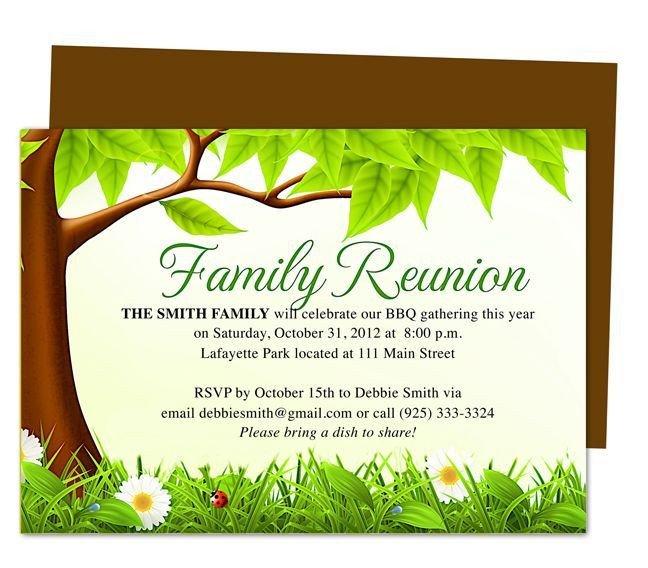 Family Reunion Invitation Templates Best 25 Family Reunion Invitations Ideas On Pinterest