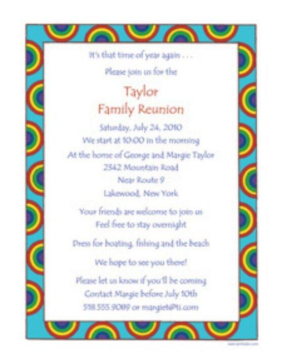Family Reunion Invitation Templates Family Reunion Invite