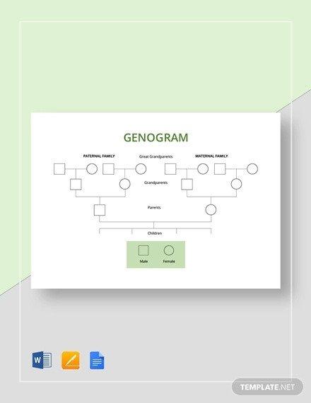 Family Tree Template Google Docs 36 Genogram Templates Pdf Word Apple Pages Google