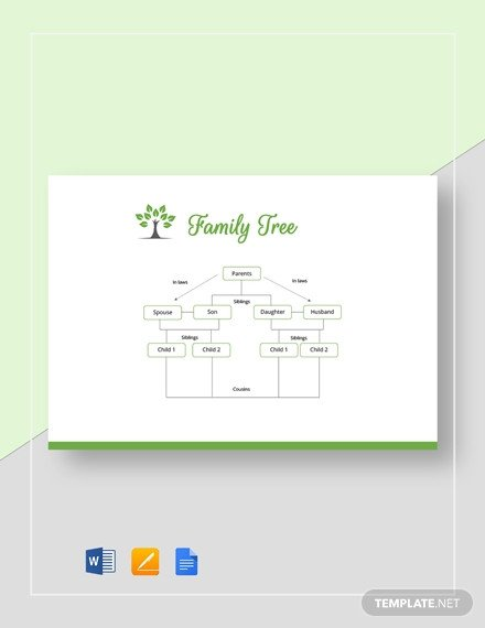 Family Tree Template Google Docs 61 Free Family Tree Templates In Microsoft Word [download