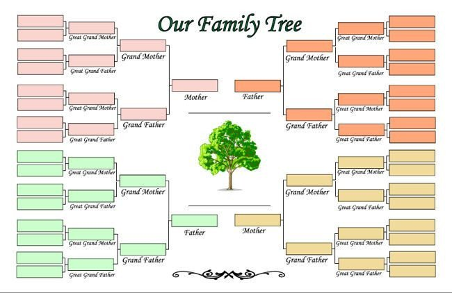 Family Tree Template Google Docs Family Tree Template for Kids Google Search