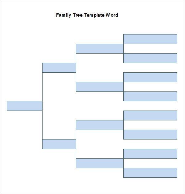 Family Tree Template Google Docs Word Family Tree Templates