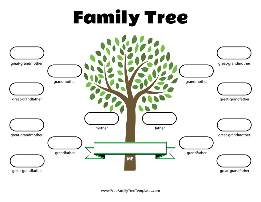 Family Tree with Pictures Template 4 Generation Family Tree Template – Free Family Tree Templates
