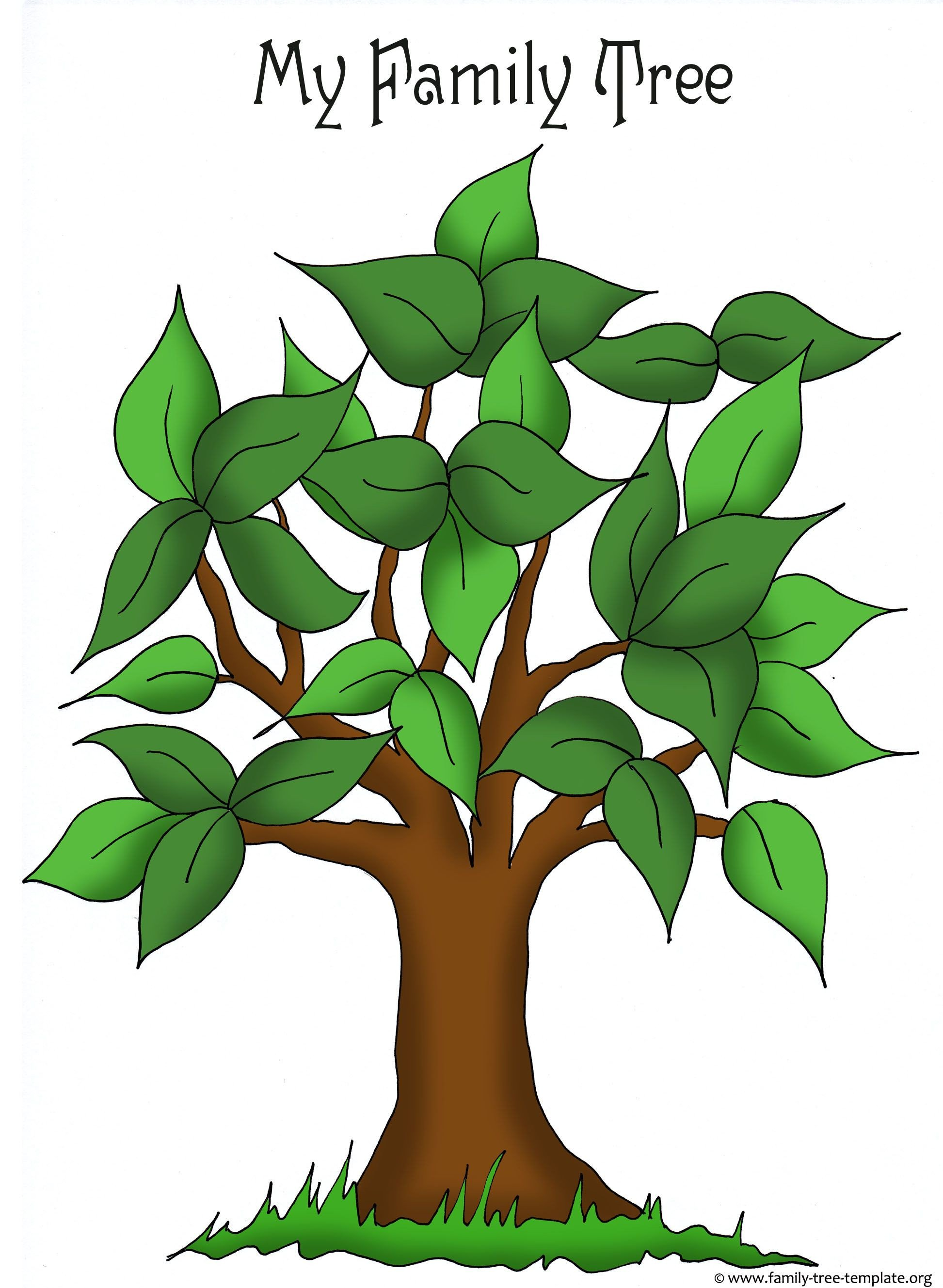 Family Tree with Pictures Template Artistic Apple Tree Template for Free Placement Of Family