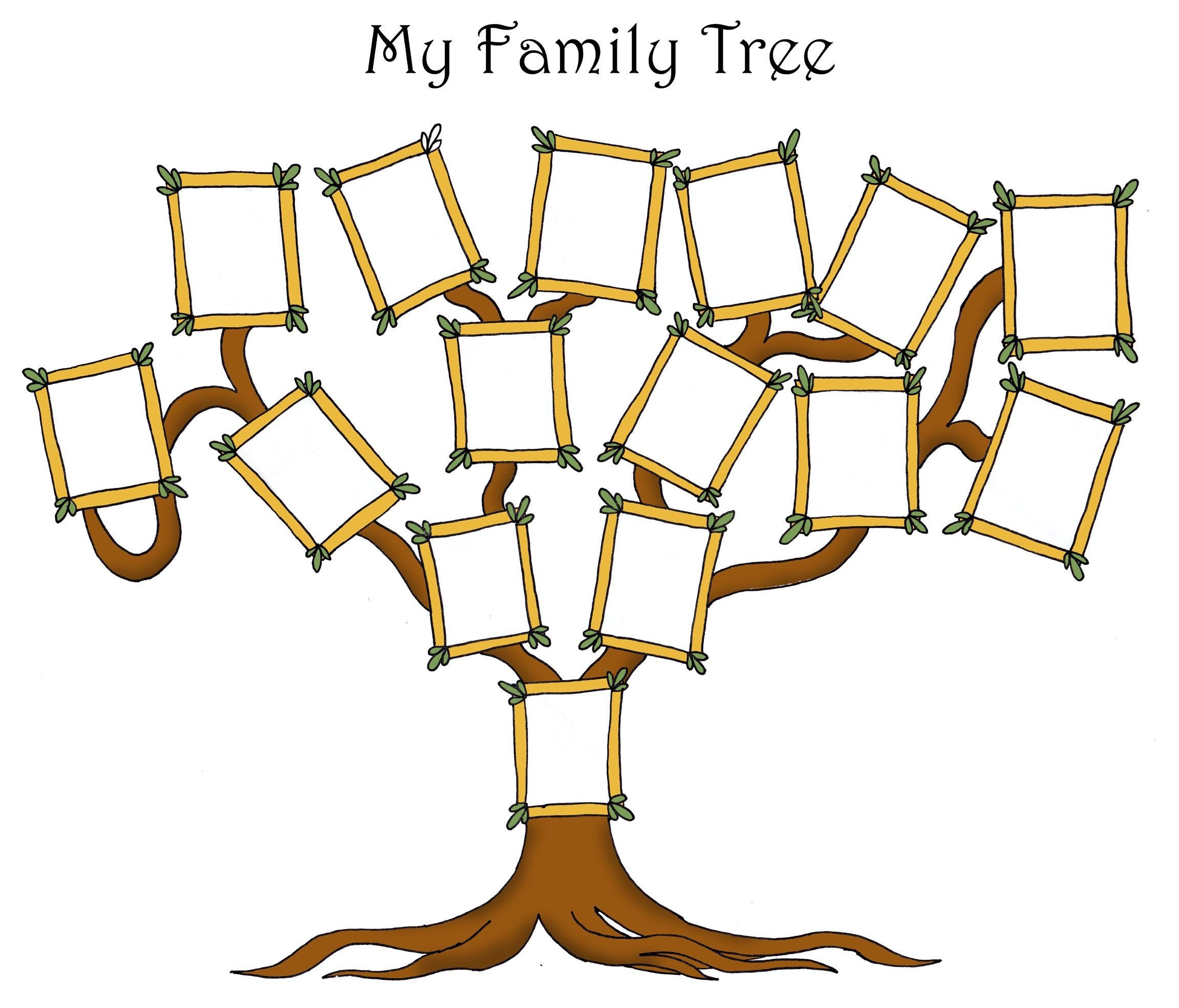 Family Tree with Pictures Template Free Editable Family Tree Template Daily Roabox