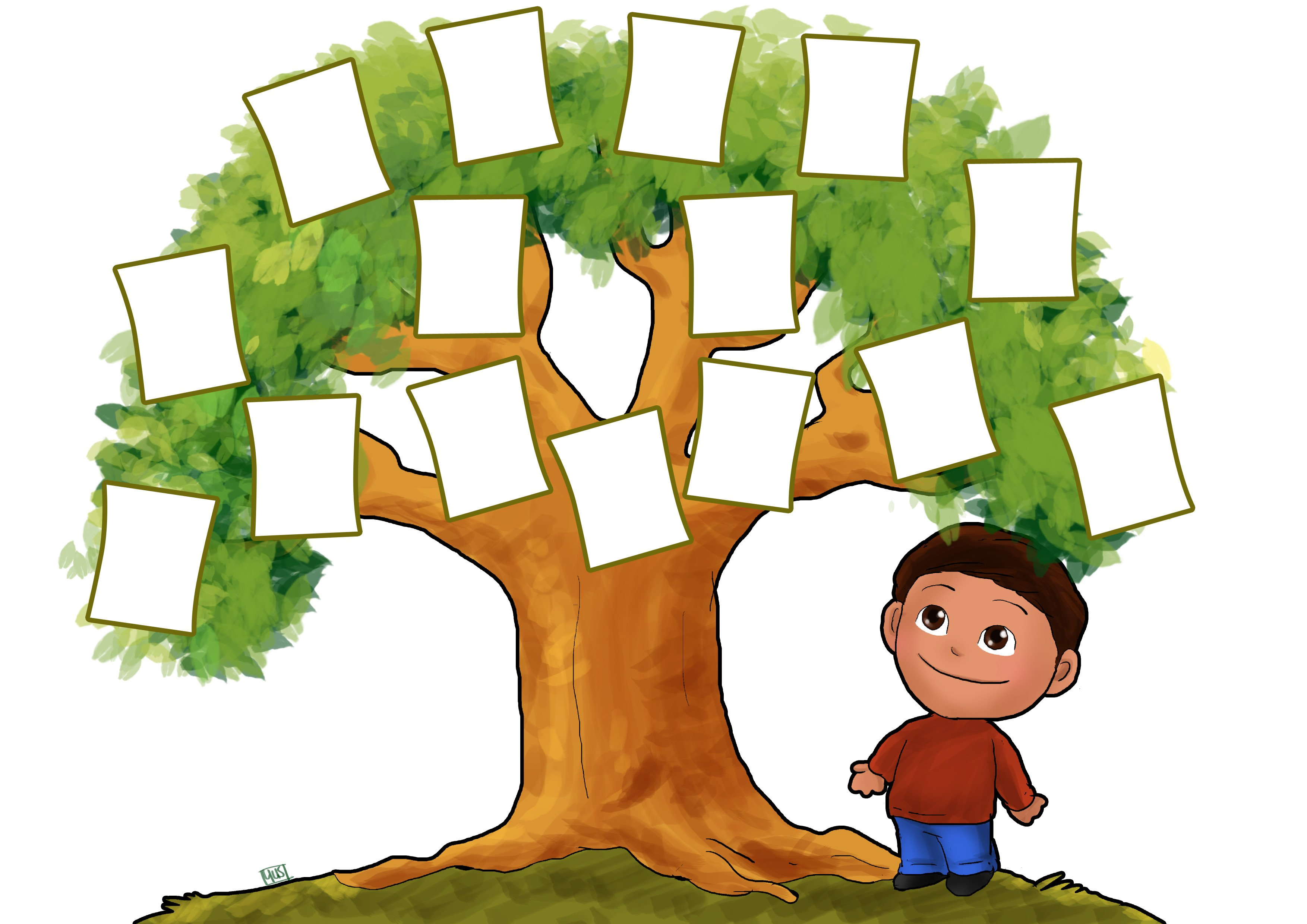 Family Tree with Pictures Template Free Family Tree Clipart Clipartix