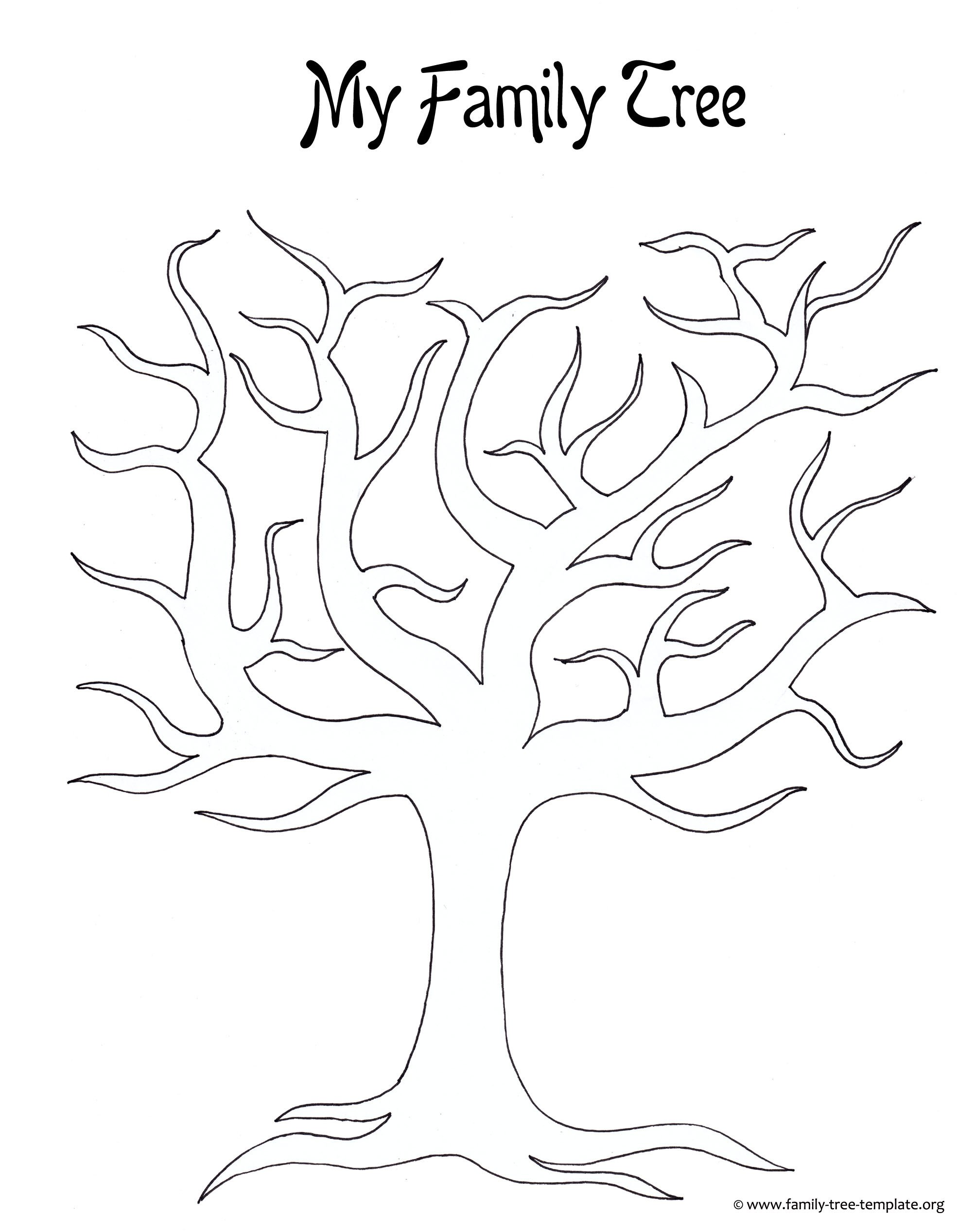 Family Tree with Pictures Template Kids Printable Family Tree Coloring Home