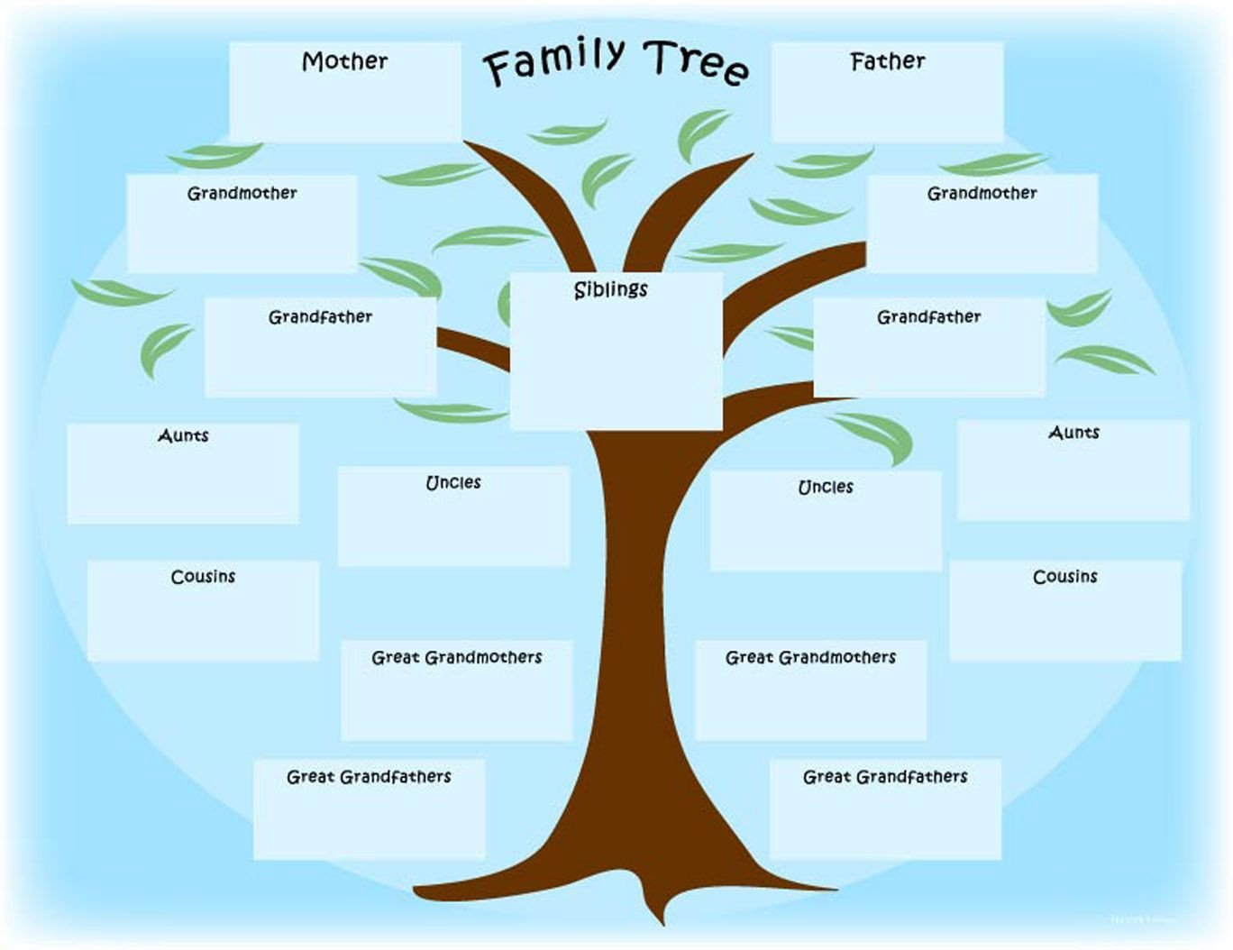 """Family Tree with Pictures Template Newspaper Activity """"the Year I Was Born"""" Printable"""