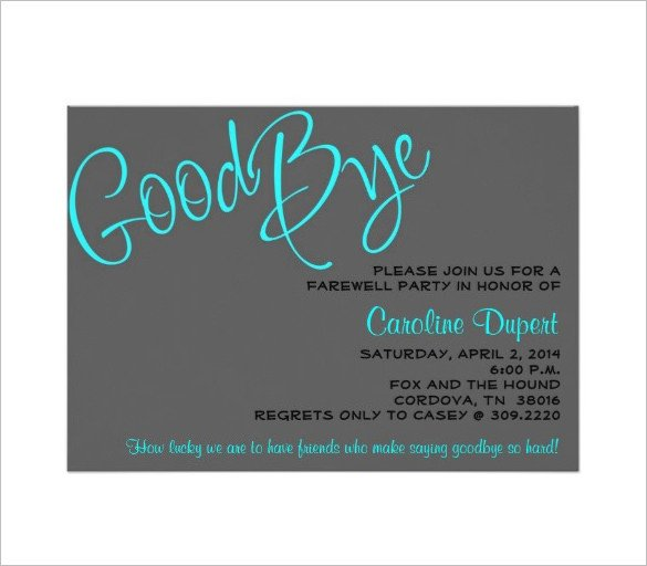 Farewell Party Invitation Template Free 14 Farewell Card Templates Psd Ai