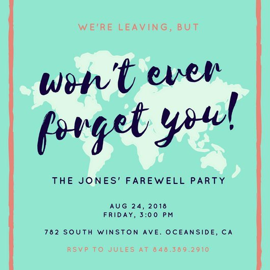 Farewell Party Invitation Template Free Customize 3 999 Farewell Party Invitation Templates