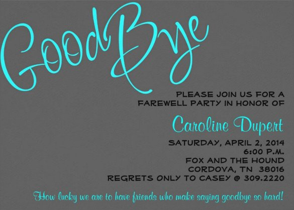 Farewell Party Invitation Template Free Farewell Party Invitation Template – 20 Free Psd format