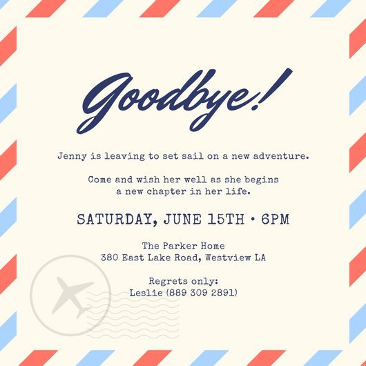 Farewell Party Invitation Template Free Farewell Party Invitation Templates Canva