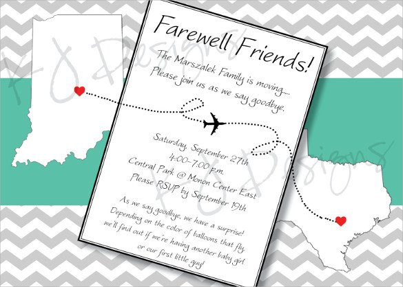 Farewell Party Invitation Template Free Sample Farewell Invitation Template 8 Download