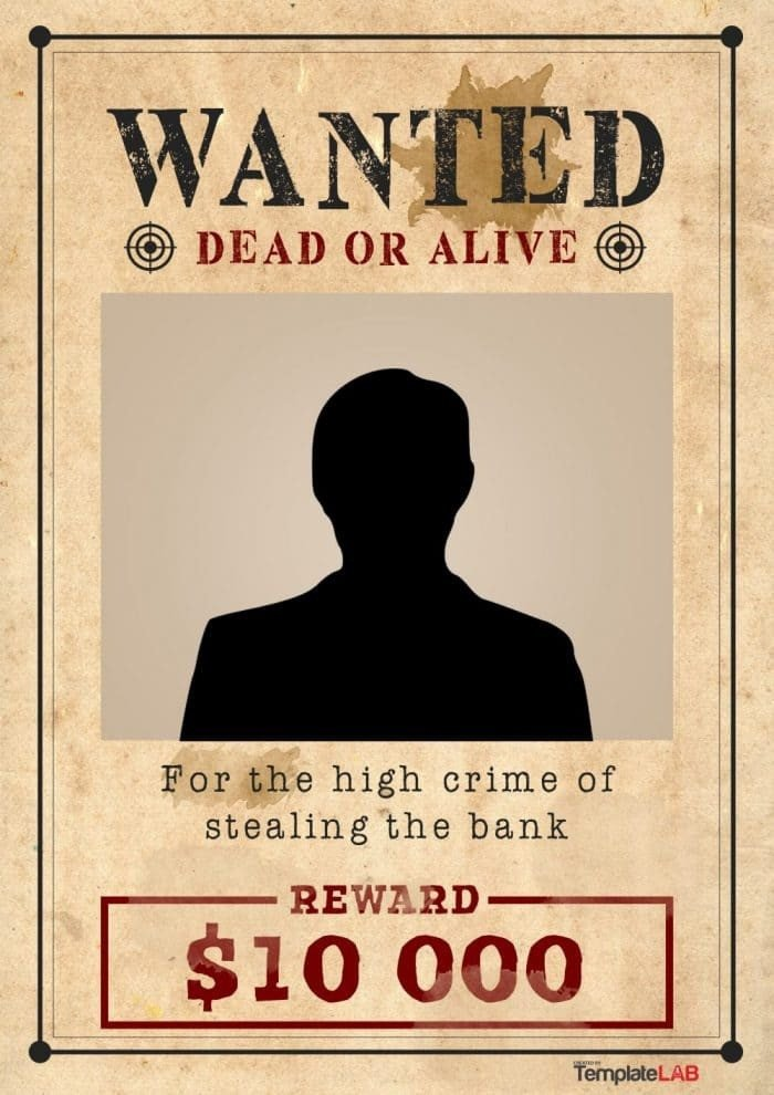 Fbi Wanted Poster Template Free Wanted Poster Template