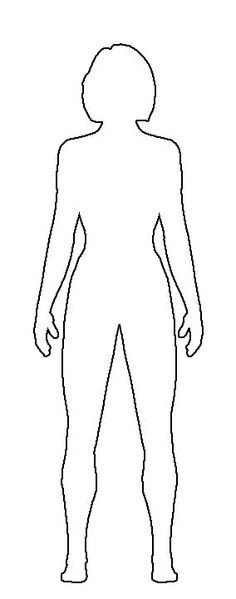 Female Body Outline Template 105 Best Graphics for Dance Gender Free and Gendered