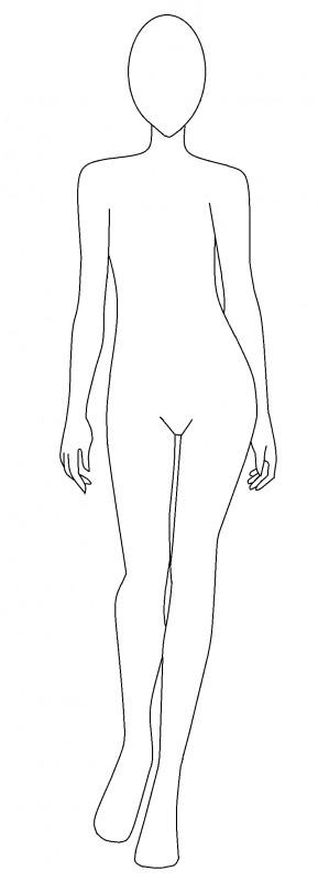Female Body Outline Template Fashion Design Template Female 2014 2015