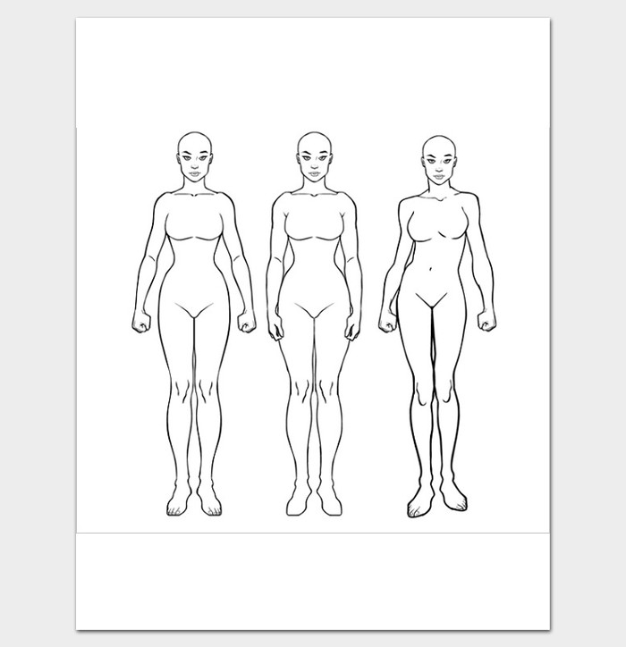 Female Body Outline Template Female Body Outline Template 9 Printable Worksheets
