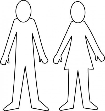 Female Body Outline Template Female Body Outline Template Clipart Best