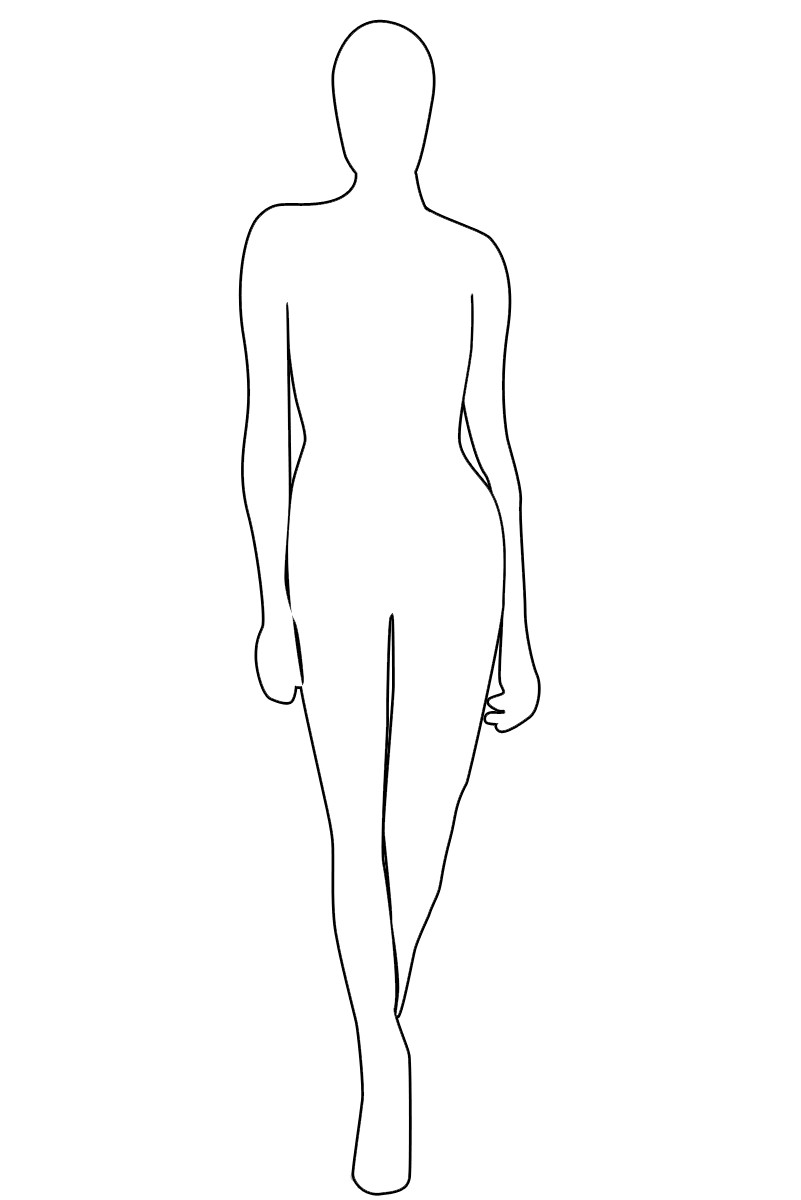Female Body Outline Template Female Outline Coloring Home