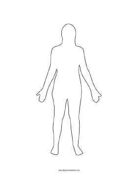 Female Body Outline Template Human Body Female Blackline Master