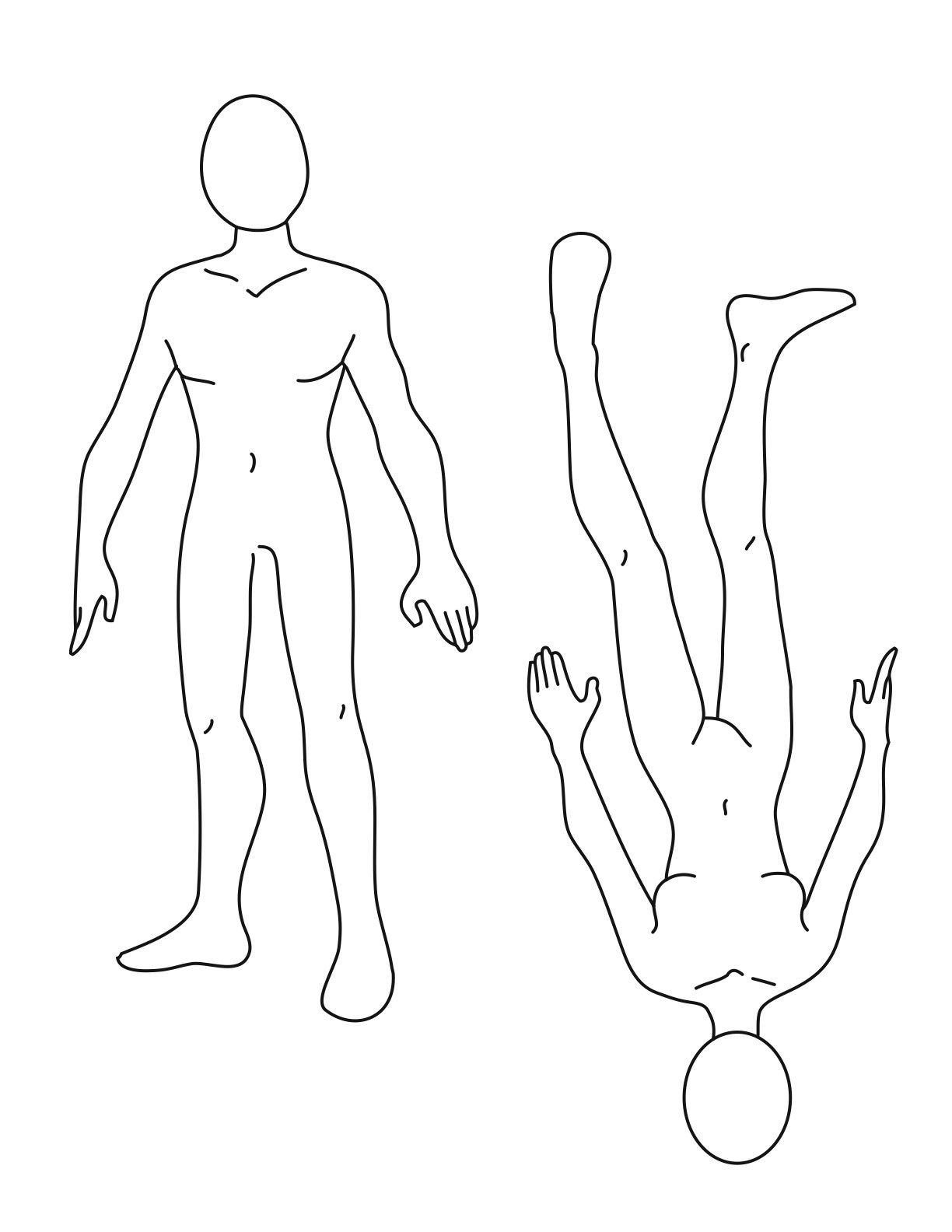 Female Body Outline Template Pix for Cartoon Female Body Outline Shapes