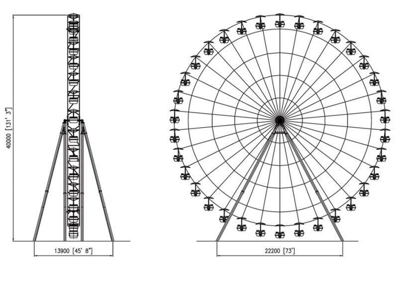 Ferris Wheel Template Ferris Wheel 40 Mt Technical Park Amusement Rides and