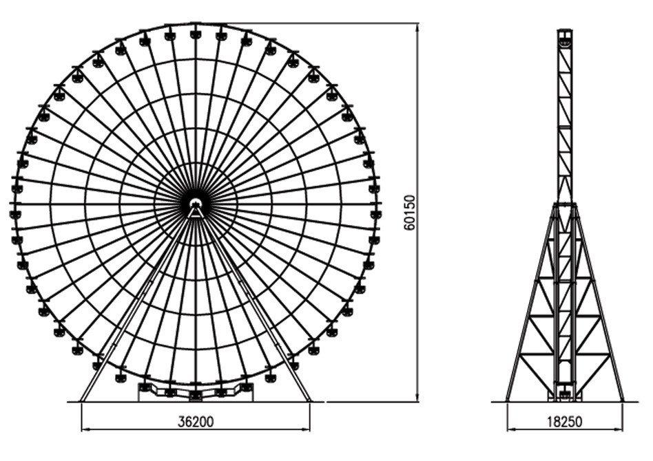 Ferris Wheel Template Ferris Wheel 60mt Amusement Rides Template Technical