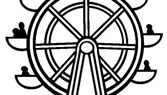 Ferris Wheel Template Ferris Wheel Coloring Page