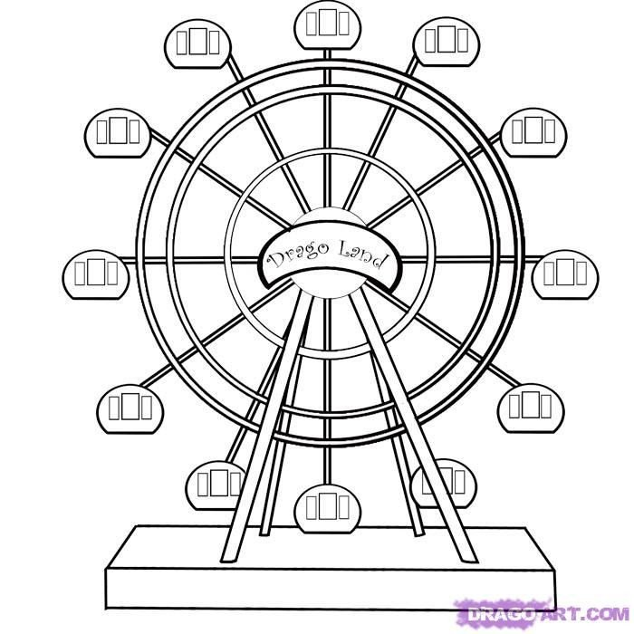 Ferris Wheel Template Ferris Wheel Coloring Pages