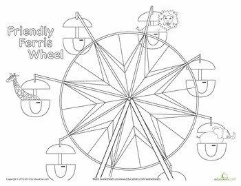 Ferris Wheel Template Ferris Wheel Sketch Templates