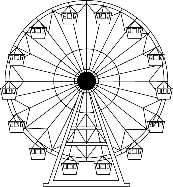 Ferris Wheel Template Illustrations