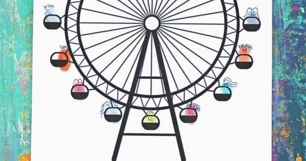 Ferris Wheel Template Thumbprint Ferris Wheel Free Printable