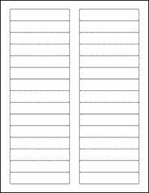 "File Folder Label Template 3 4375"" X 0 669"" Rectangle Labels Ol3729"