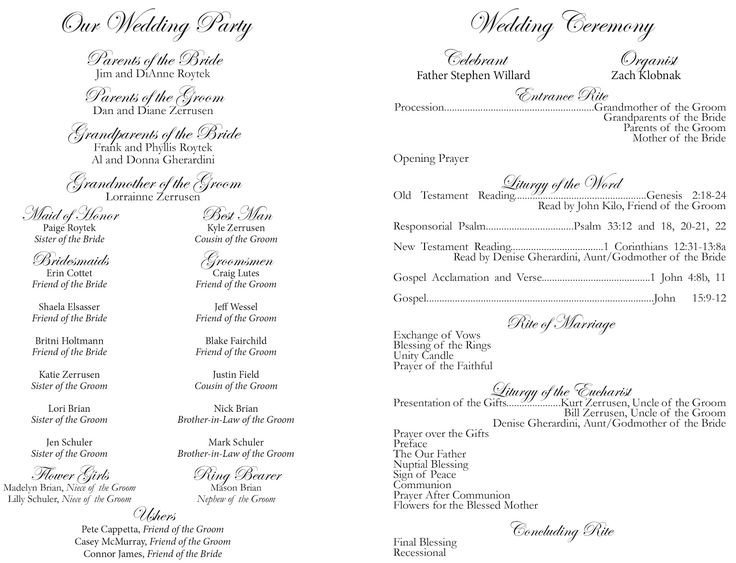 25 Best Ideas about Catholic Wedding Programs on