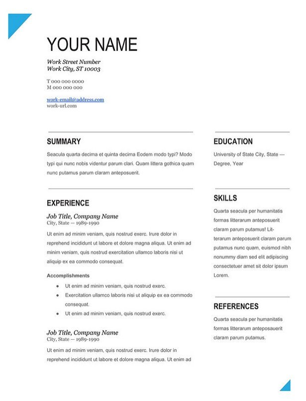 Fill In Resume Template Modern Fill In Blank Resume Template Works