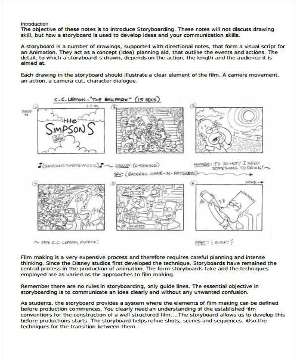 Film Storyboard Template Pdf 44 Storyboard Templates In Pdf