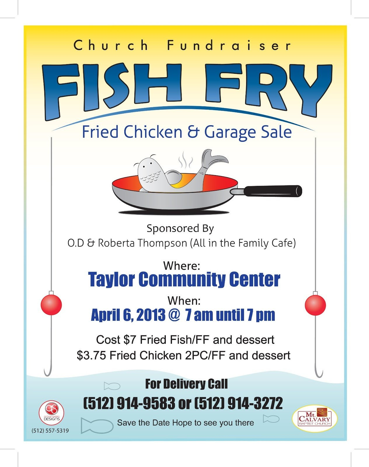 Fish Fry Flyer Template Anthony Simien