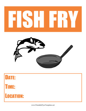 Fish Fry Flyer Template Fish Fry Flyer