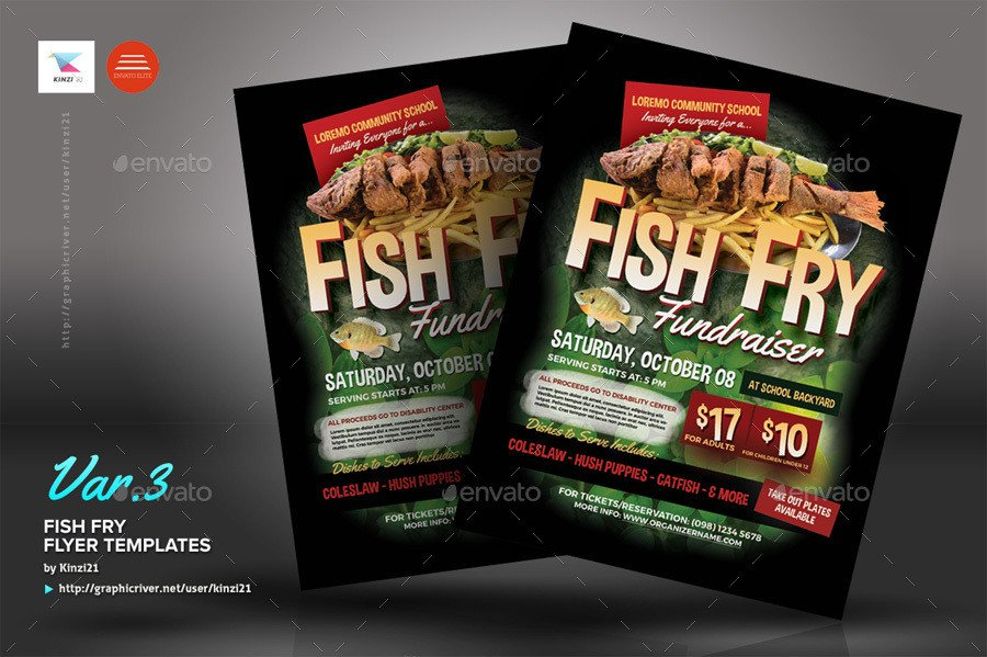 Fish Fry Flyer Template Fish Fry Flyer Templates by Kinzi21