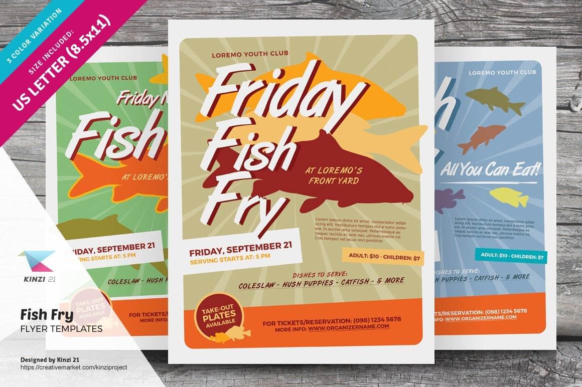 Fish Fry Flyer Template Fish Fry Flyer Templates Flyer Templates Creative Market