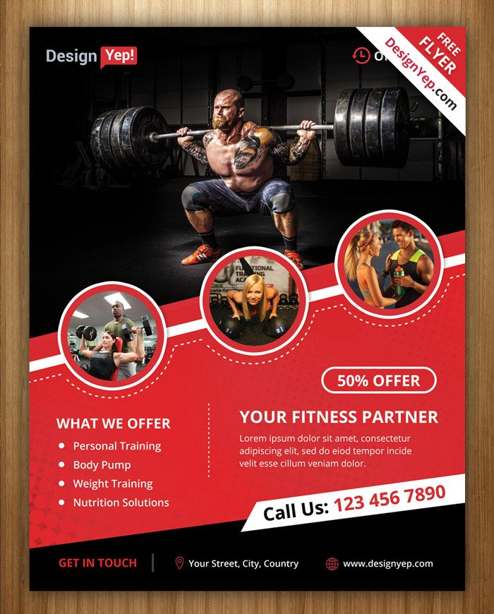 Fitness Flyer Template Free 18 Gym and Fitness Flyer Psd Free Download Designyep