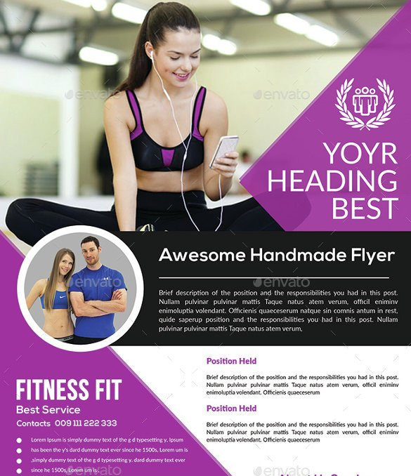 Fitness Flyer Template Free 36 Fitness Flyer Templates Word Psd Ai formats