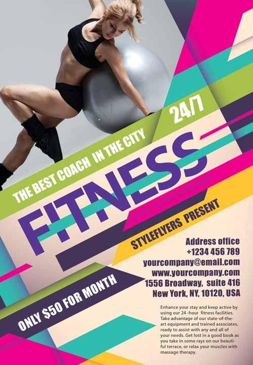 Fitness Flyer Template Free 80 Creative & Modern Free Business Flyers Templates